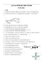 宁夏石嘴山市第三dafa2021届高三上学期第一次月考 生物(含答案)