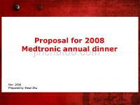 2009 Medtronic Annual Dinner