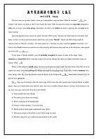 高考英语全国卷七选五_历年真题Word版含答案