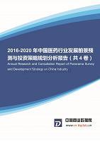 2016-2020年中国医药行业发展前景预测与投资策略规划分析报告(共4卷)