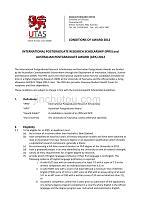 塔斯马尼亚大学奖学金评选规则