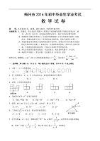 梅州市2016年初中毕业生学业考试-数学试卷