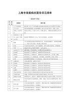 上海市家庭病床服务项目清单【2019版】