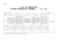 xx市(县)直机关公务员平时考核个性指标得分表5