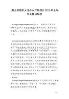 湖北孝感市大悟县水产局召开2016年上半年工作总结会