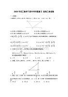 2020年初三数学下册中考专题复习 锐角三角函数(含答案)