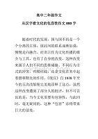 高中二年級作文從漢字看文化的包容性作文800字
