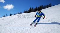 蓝色滑雪运动报表工作总结新年计划工作汇报ppt
