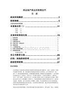 商业地产商业招商策划书通用模板