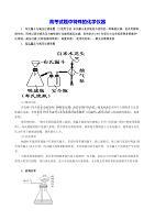 高考試題中特殊的化學儀器:.布氏漏斗與減壓過濾裝置等