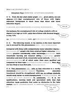 英语作文 Education Pays (教育物有所值)