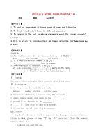江苏省丹阳市第三中学七年级英语下册 7B Unit 1 Dream homes Reading(1)学案(无答案) (新版)牛津版