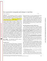 臨床專科知識講解習題考試題uirementsinregnancyandstrategiestomeetthem