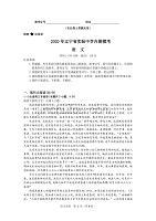 遼寧省實驗中學2020屆高三下學期內測模考語文試卷