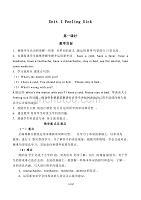 六年級英語上冊Unit 1 Feeling Sick(1-3課時)經典教案超詳細