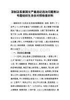 深刻汲取姜國文嚴重違紀違法問題教訓專題組織生活會對照檢查材料