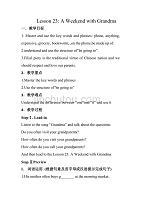 冀教版英语七年级下册Unit 4:Lesson 23 A Weekend With Grandma 教案 (2)