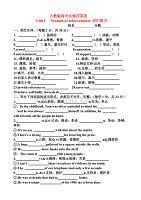 人教版高中必修四英语Unit1词汇练习题