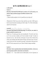 2020上海市高考英语口语测试仿真模拟卷三word版