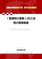 2020年(管理统计套表)(B)工业统计报表制度