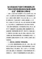 """電力系統黨員干部學習貫徹國網公司""""具有中國特色國際領先的能源互聯網企業""""戰略目標心得體會"""