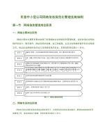 民營中小型公司網絡信息規范化管理實施細則