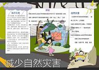 卡通減少自然災害地震Word手抄報
