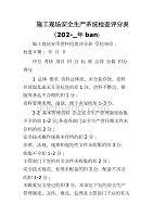 施工現場安全生產系統檢查評分表(202-_年ban)